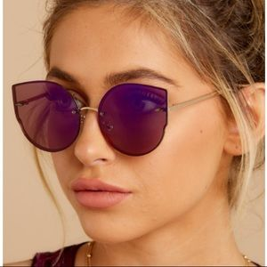 NWT Purple and Black Cat Eye Sunglasses